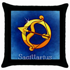 Zodiac Sagittarius Throw Pillow Case (black) by Mariart