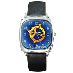 Zodiac Sagittarius Square Metal Watch by Mariart