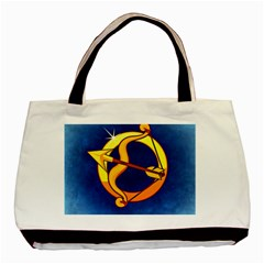 Zodiac Sagittarius Basic Tote Bag by Mariart