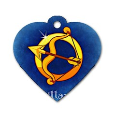 Zodiac Sagittarius Dog Tag Heart (one Side) by Mariart