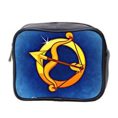 Zodiac Sagittarius Mini Toiletries Bag 2 Side by Mariart