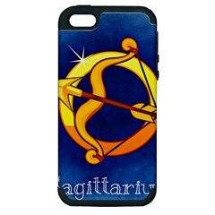 Zodiac Sagittarius Apple Iphone 5 Hardshell Case (pc+silicone) by Mariart