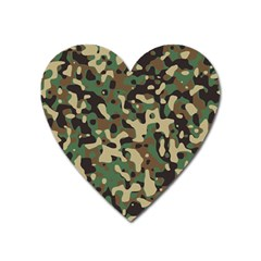 Army Camouflage Heart Magnet by Mariart