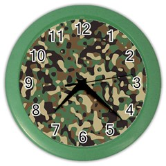 Army Camouflage Color Wall Clocks by Mariart