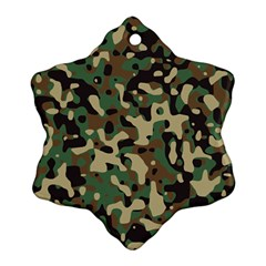 Army Camouflage Snowflake Ornament (two Sides) by Mariart
