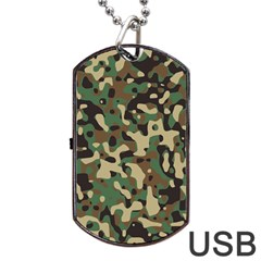 Army Camouflage Dog Tag Usb Flash (one Side) by Mariart