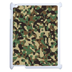 Army Camouflage Apple Ipad 2 Case (white) by Mariart