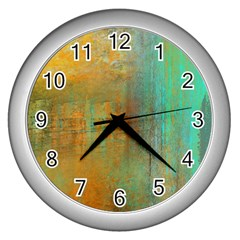 The Waterfall Wall Clocks (silver)  by theunrulyartist