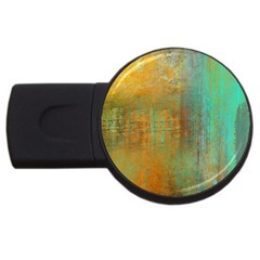 The Waterfall Usb Flash Drive Round (2 Gb) by theunrulyartist