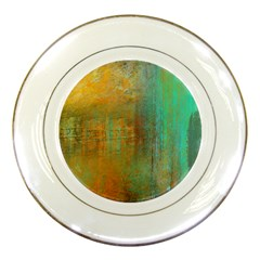 The Waterfall Porcelain Plates by theunrulyartist