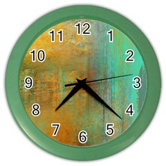 The Waterfall Color Wall Clocks by digitaldivadesigns