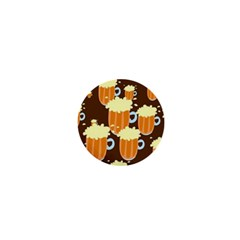 A Fun Cartoon Frothy Beer Tiling Pattern 1  Mini Magnets by Nexatart