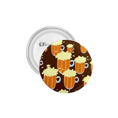 A Fun Cartoon Frothy Beer Tiling Pattern 1 75  Buttons by Nexatart