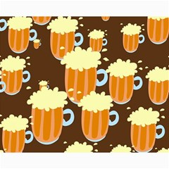 A Fun Cartoon Frothy Beer Tiling Pattern Canvas 16  X 20   by Nexatart