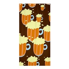 A Fun Cartoon Frothy Beer Tiling Pattern Shower Curtain 36  X 72  (stall)  by Nexatart