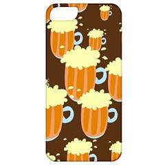 A Fun Cartoon Frothy Beer Tiling Pattern Apple Iphone 5 Classic Hardshell Case