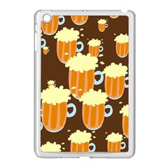 A Fun Cartoon Frothy Beer Tiling Pattern Apple Ipad Mini Case (white) by Nexatart