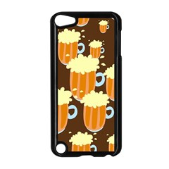 A Fun Cartoon Frothy Beer Tiling Pattern Apple Ipod Touch 5 Case (black) by Nexatart