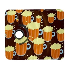 A Fun Cartoon Frothy Beer Tiling Pattern Galaxy S3 (flip/folio)