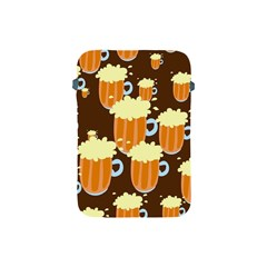 A Fun Cartoon Frothy Beer Tiling Pattern Apple Ipad Mini Protective Soft Cases by Nexatart