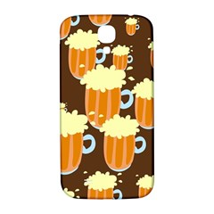 A Fun Cartoon Frothy Beer Tiling Pattern Samsung Galaxy S4 I9500/i9505  Hardshell Back Case