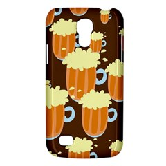 A Fun Cartoon Frothy Beer Tiling Pattern Galaxy S4 Mini by Nexatart