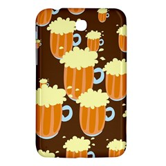 A Fun Cartoon Frothy Beer Tiling Pattern Samsung Galaxy Tab 3 (7 ) P3200 Hardshell Case  by Nexatart