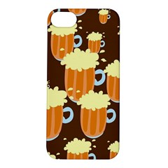 A Fun Cartoon Frothy Beer Tiling Pattern Apple Iphone 5s/ Se Hardshell Case
