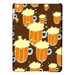A Fun Cartoon Frothy Beer Tiling Pattern Ipad Air Hardshell Cases by Nexatart