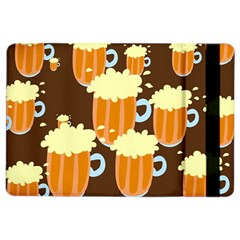 A Fun Cartoon Frothy Beer Tiling Pattern Ipad Air 2 Flip
