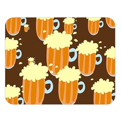 A Fun Cartoon Frothy Beer Tiling Pattern Double Sided Flano Blanket (large)  by Nexatart