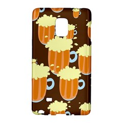 A Fun Cartoon Frothy Beer Tiling Pattern Galaxy Note Edge by Nexatart