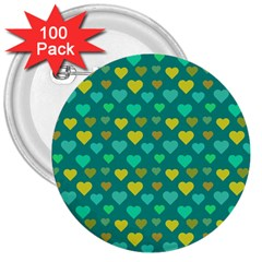 Hearts Seamless Pattern Background 3  Buttons (100 pack)  by Nexatart