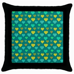 Hearts Seamless Pattern Background Throw Pillow Case (black) by Nexatart