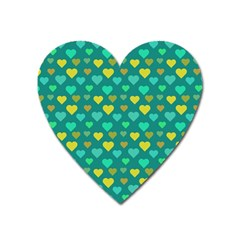 Hearts Seamless Pattern Background Heart Magnet by Nexatart