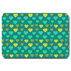 Hearts Seamless Pattern Background Large Doormat