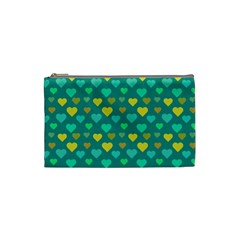 Hearts Seamless Pattern Background Cosmetic Bag (small)  by Nexatart