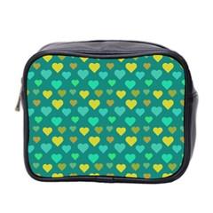 Hearts Seamless Pattern Background Mini Toiletries Bag 2 Side by Nexatart