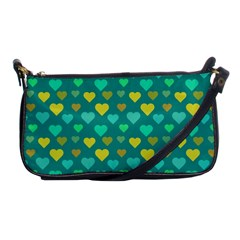 Hearts Seamless Pattern Background Shoulder Clutch Bags by Nexatart