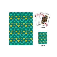 Hearts Seamless Pattern Background Playing Cards (mini)  by Nexatart