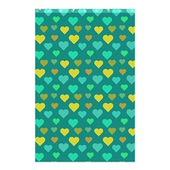 Hearts Seamless Pattern Background Shower Curtain 48  X 72  (small)  by Nexatart