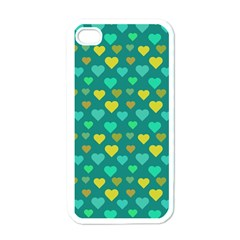 Hearts Seamless Pattern Background Apple Iphone 4 Case (white) by Nexatart