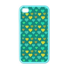 Hearts Seamless Pattern Background Apple Iphone 4 Case (color)