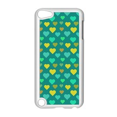 Hearts Seamless Pattern Background Apple Ipod Touch 5 Case (white) by Nexatart