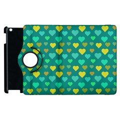 Hearts Seamless Pattern Background Apple Ipad 2 Flip 360 Case
