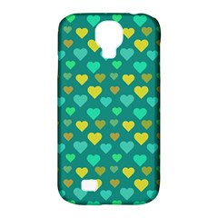 Hearts Seamless Pattern Background Samsung Galaxy S4 Classic Hardshell Case (pc+silicone)