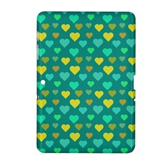 Hearts Seamless Pattern Background Samsung Galaxy Tab 2 (10 1 ) P5100 Hardshell Case  by Nexatart