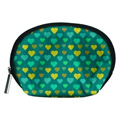 Hearts Seamless Pattern Background Accessory Pouches (medium)