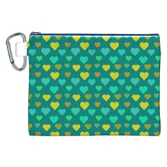 Hearts Seamless Pattern Background Canvas Cosmetic Bag (xxl) by Nexatart