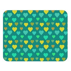 Hearts Seamless Pattern Background Double Sided Flano Blanket (large)